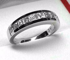 Wedding Band White Gold Pd9837 1.00Ct Genuine Princess Cut Diamond
