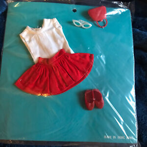Vintage Skipper Outfit Clothes Sew Card New Old Stock Hong Kong - Red Skirt