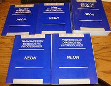 2002 Dodge Neon Shop Service Manual + Diagnostic Procedures 5 Book Set 02