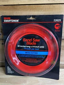 SEARS CRAFTSMAN 80in Long X 1/4 In Wide Metal Cutting Band Saw Blade 92624 NEW