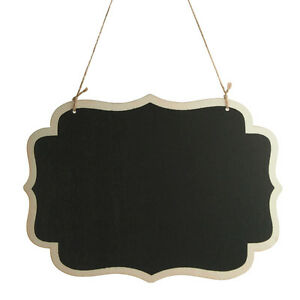 Hanging Chalkboard Wooden Frame Menu Sign Wedding Centerpiece