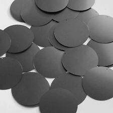 Round Sequin 40mm Black Matte Satin Metallic Couture Paillettes