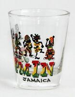 JAMAICA WE BE JAMMIN CARIBBEAN SHOT GLASS SHOTGLASS