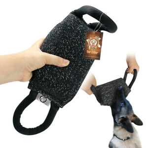 Dog Bite Tug Toy Training Young Dog Chew Toys with Two Handles Bite Suit Fabirc