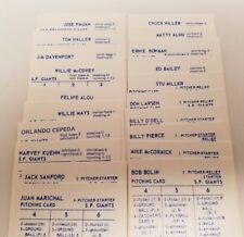 1962 San Francisco Giants Strat-o-matic Baseball 20 OG Player Cards Clean