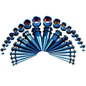 36PCS Ear Tunnels Taper Streching Kit Gauges 1.6MM-10MM Plugs Ear Expanders Set