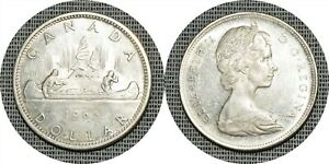 CANADA 1965 One 1 Dollar Elizabeth II KM #64.1 -TKT