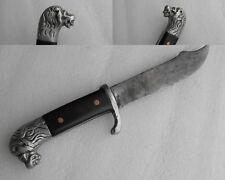 Vintage Hand made Hunting Knife Dog Aluminium Handle Nice Patina