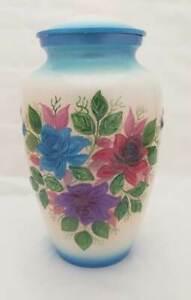 3D Flower Decorative Aluminium Cremation Unique urns for human ashes