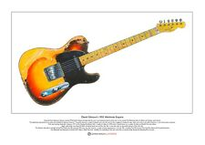 David Gilmour's 1955 Workmate Esquire Limited Edition Fine Art Print A3 size