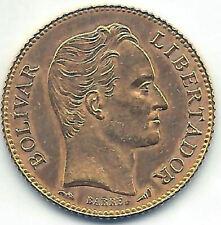 Venezuela 20 Bolivares 1910 Gold @ ohne Kreisförmige @