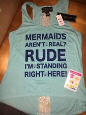 Claire's Mermaid L Xl Tank Top Girls 18 20 + Justice Stickers