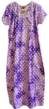 100% Cotton Women Ladies Indian Nightie Night Gown Maxi Dress Sleep Wear Size XL