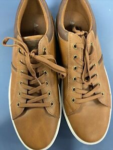 ALDO Mens Leather-look Tan Man Shoes EUC Sz 9