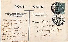 Genealogy Postcard - Family History - Gray - Wellington Square - Oxford   U3971
