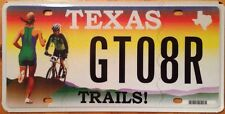 Texas TRAILS license plate Jogger Bicycle Bike hiking Park Runner Share Road run