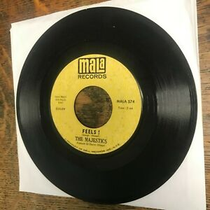 """THE MAJESTICS Feels! / Doing The Best I Can MALA Promo 7"""" single 45 RPM VG Used"""