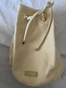Chloe Parfum Fragrance Beige Fabric Draw String Make Up Pouch Bag