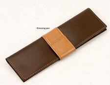 Waterman leather case for 2 pens / Lederetui für 2 Schreibgeräte in brown