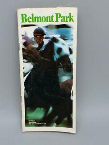 * ORIGINAL * SECRETARIAT IN 1973 BELMONT STAKES HORSE RACING PROGRAM! **RARE**