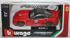 Artículos de automodelismo y aeromodelismo Burago Ferrari escala 1:43