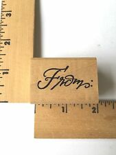 DeNami Designs Rubber Stamps - Word From - NEW