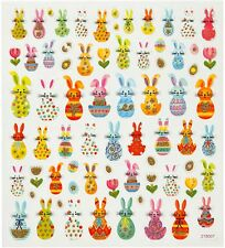 Easter Bunny Rabbit adesivi AUTOADESIVO Carini Glitter Sticker Craft Cardmaking
