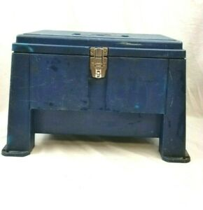 Stack-on Step Stool Tool Box Lockable Inner Tray Made in USA