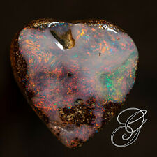 Natural polished boulder opal pendant 17.28 cts 17 x 16 x 8 mm SEE VIDEO