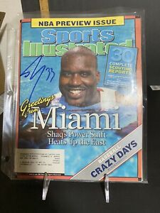 SHAQUILLE O'NEAL signed October 25, 2004 Sports Illustrated AUTO SHAQ SI