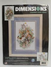 Dimensions # 35066 Playful Kitties Counted Cross Stitch Kit Unopened U.S.A.