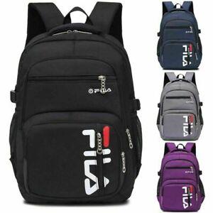 AU FILA School Laptop Backpack Large Waterproof Rucksack Fishing Sports Travel