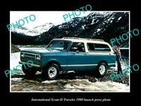 OLD 8x6 HISTORIC PHOTO OF INTERNATIONAL SCOUT TRAVELER 1980 LAUNCH PRESS PHOTO