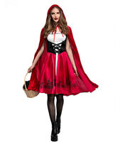 Halloween Cosplay Fancy Dress Little Red Riding Hood Costume for Women