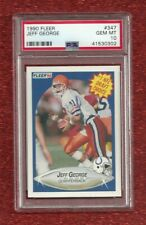 1990 FLEER #347 JEFF GEORGE ROOKIE RC PSA 10 GEM MINT POP 11 INDIANAPOLIS COLTS
