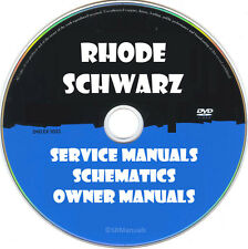 Rohde & Schwarz Repair Service Manuals & Schematics PDFs manuals on DVD Huge Set