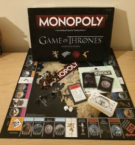 Game Of Thrones Monopoly Collectors Edition Board Game Complete