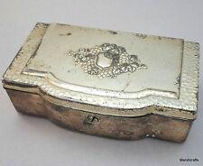 Jewelry Box Occupied Japan 6in Silver Gilt Grape Rosswell Interior Satin Velvet