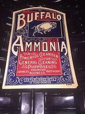 Vintage Product Label Buffalo New York Ammonia Bottle American Bluing Co.