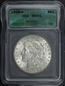 1902-O Morgan Dollar ICG MS-61