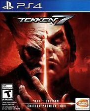 NEW! TEKKEN 7 DAY 1 ONE EDITION (Sony PlayStation 4 PS4 Disc 2017) *PLEASE READ*