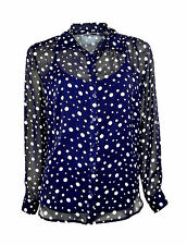 Collared Formal Spotted Tops & Shirts for Women