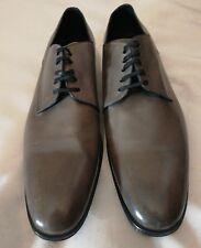 DOLCE & GABBANA CA5474 Homme en Cuir Derby Lacets Chaussure Gris UK 10 EU 44