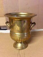 Vintage Brass Urn Vase Habdle