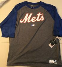 New York Mets Nike Authentic Collection Legend 3/4-Sleeve Shirt NWT 3XL XXXL