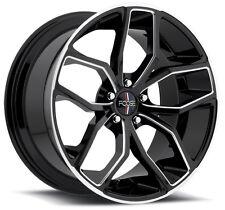 """18"""" FOOSE F150 Outkast Wheel SET 18x8 BLACK MILLED 18inch RIMS"""