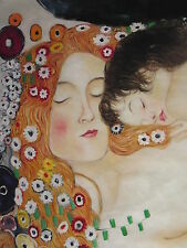 Gustav Klimt Mother and Child Oil Painting 30x20 NOT a print, poster or giclee.