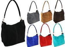 Handtasche WILDLEDER Beutel ITALY Tasche IT BAG LEDER Made in Italy NEU H/M-161