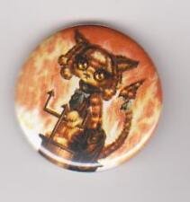 Hell Kitty pin badge goth gothic emo punk Cat Kitten