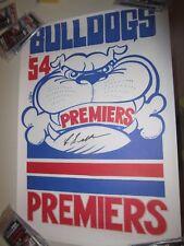 Charlie Sutton (Footscray 1954 Premiership Captain) signed Weg Poster (#441)